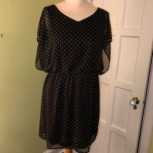 LUSH  sheer dress with built-in slip Size L